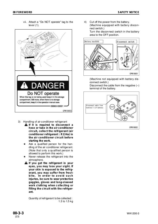 Komatsu WA1200-3 Wheel Loader Service Repair Manual SN