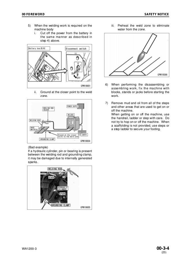 Komatsu WA1200-3 Wheel Loader Service Repair Manual SN