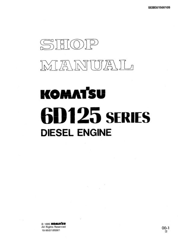 Komatsu 6d125 Diesel Engine Service Repair Manual