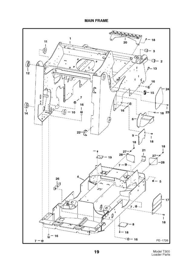 Bobcat T300 Compact Track Loader Parts Catalogue Manual S