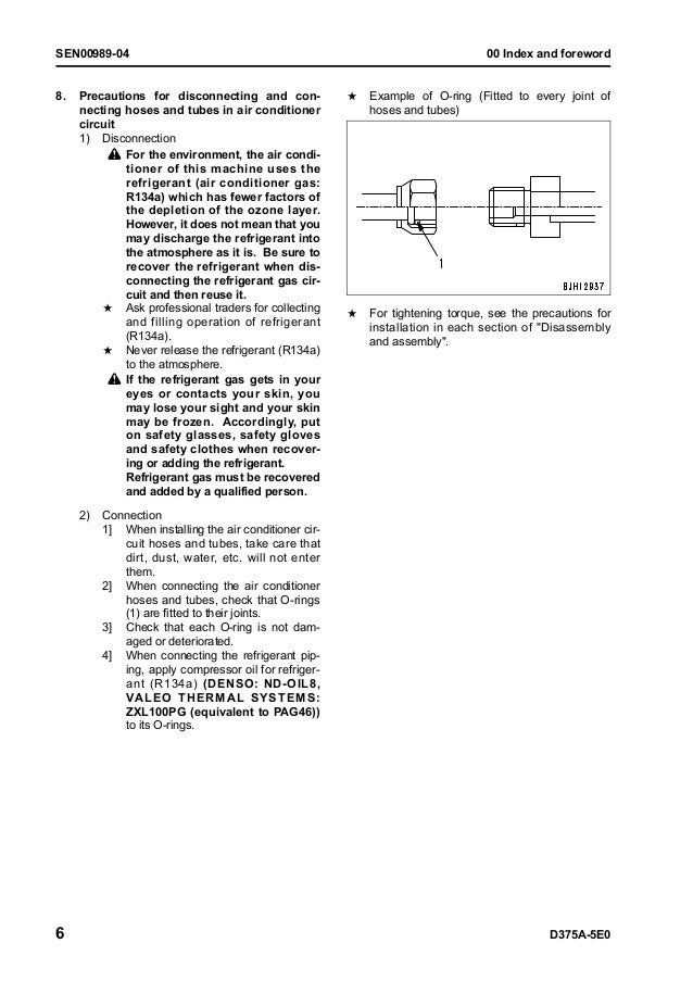 komatsu d375a 5e0 dozer bulldozer service repair manual download 50001 and up