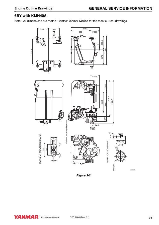 Yanmar 6BY Marine Diesel Engine Service Repair Manual