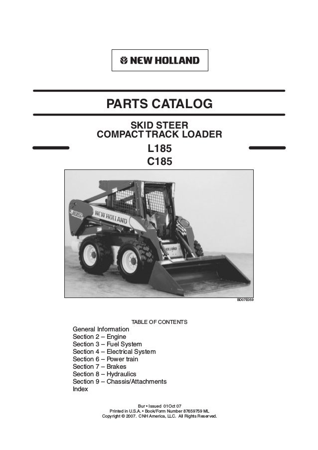 New Holland C185 Skid Steer (Compact Track Loader) Parts