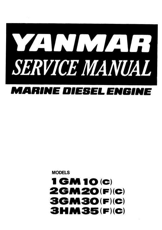 Yanmar 2GM20C Marine Diesel Engine Service Repair Manual