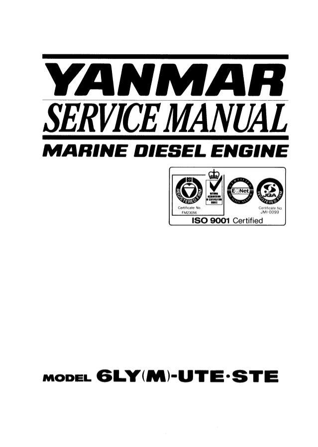 Yanmar 6LY(M)-UTE Marine Diesel Engine Service Repair Manual