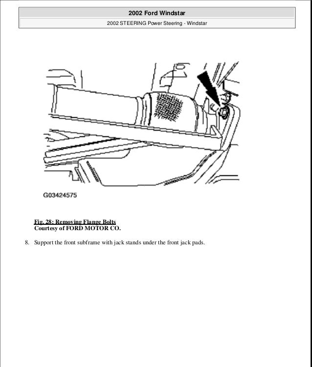 2002 FORD WINDSTAR Service Repair Manual