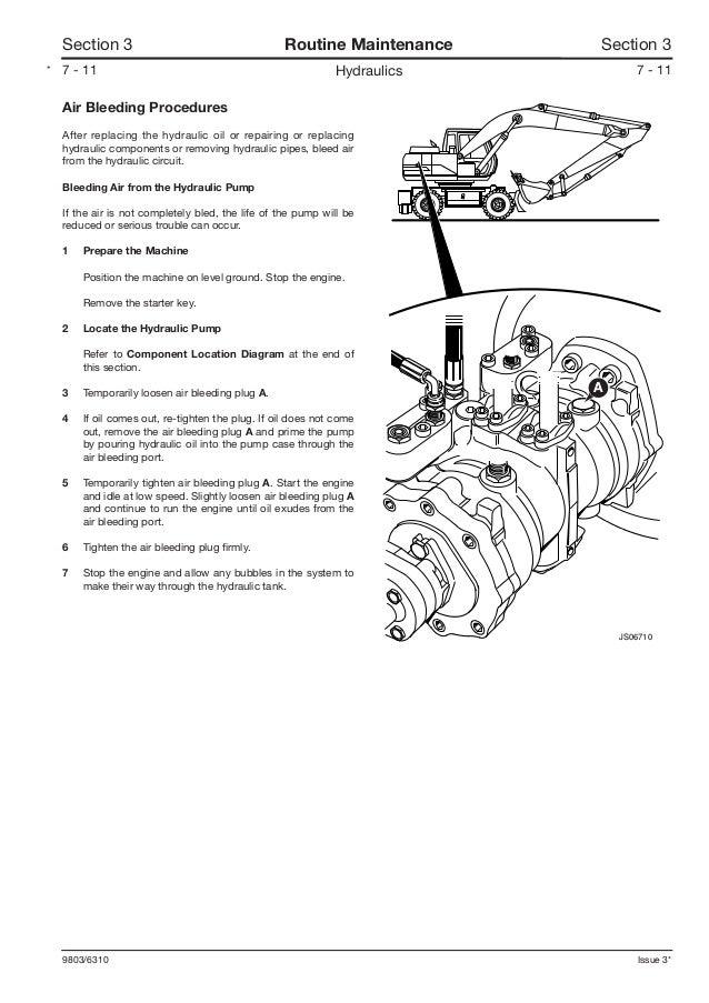 JCB JS175W WHEELED EXCAVATOR Service Repair Manual SN