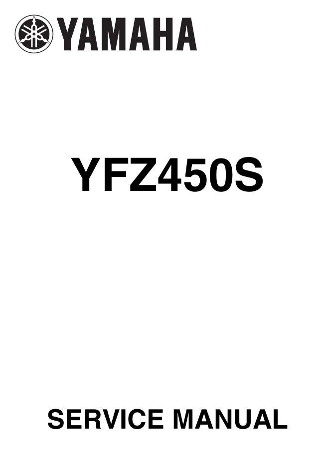 2003 yamaha yfz 450 service repair manual rh slideshare net yamaha yfz450r service manual pdf yamaha yfz450 service manual