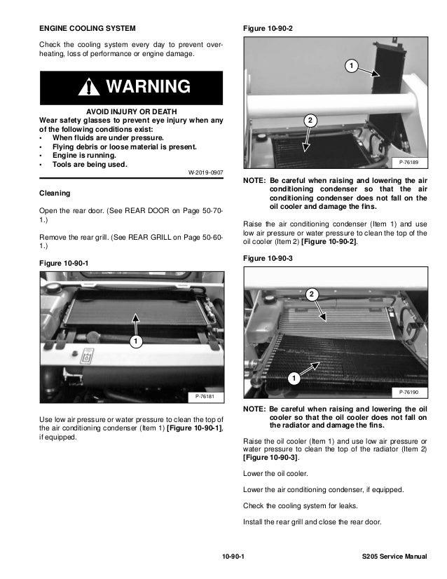 Bobcat S205 Skid Steer Loader Service Repair Manual S  N A3lk11001  U0026 A U2026