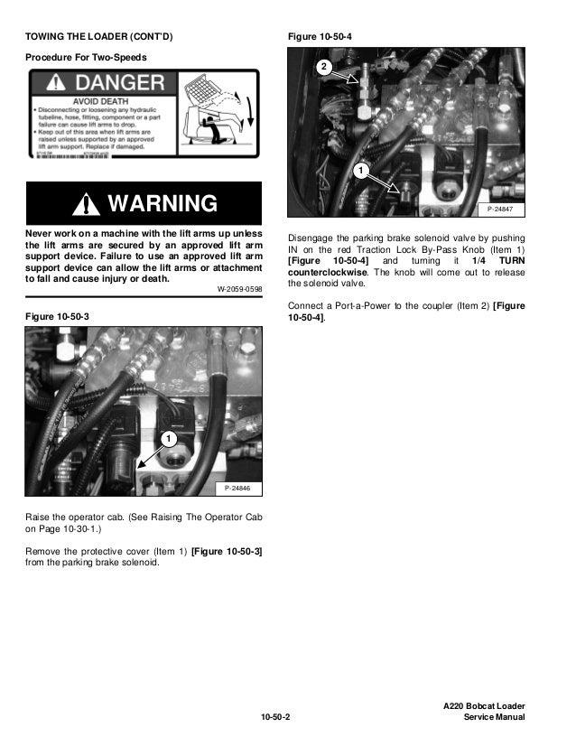 BOBCAT A220 ALL WHEEL STEER LOADER Service Repair Manual S