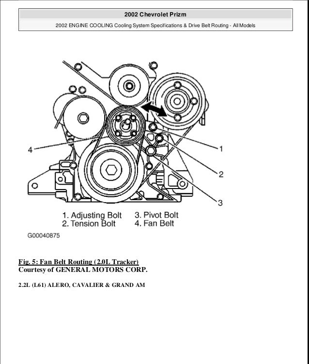 1999 Chevy Prizm Engine Diagram