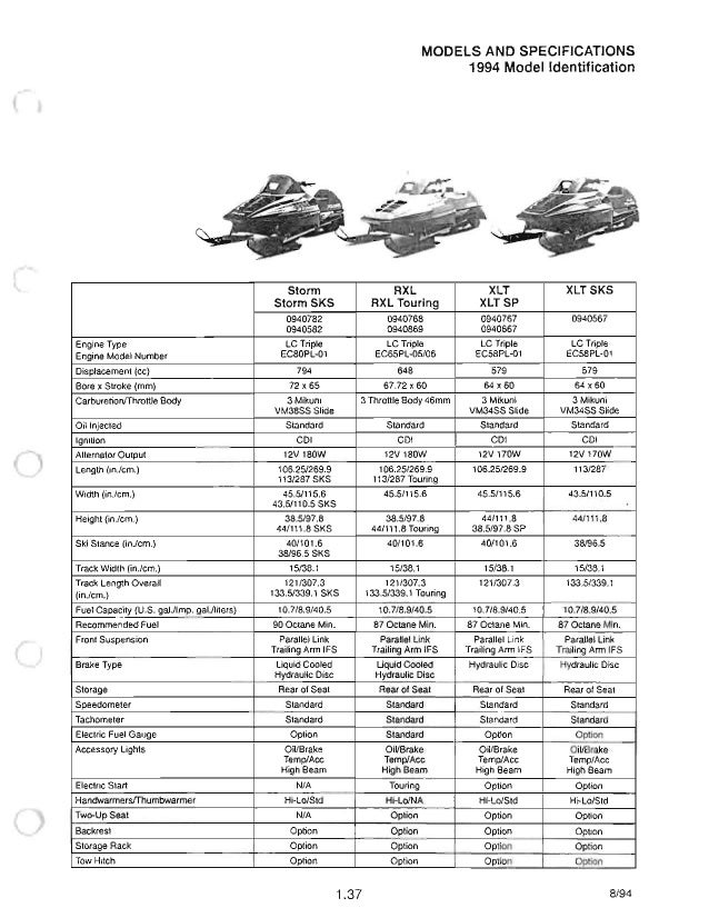 1989 POLARIS Indy Sport GT SNOWMOBILE Service Repair Manual