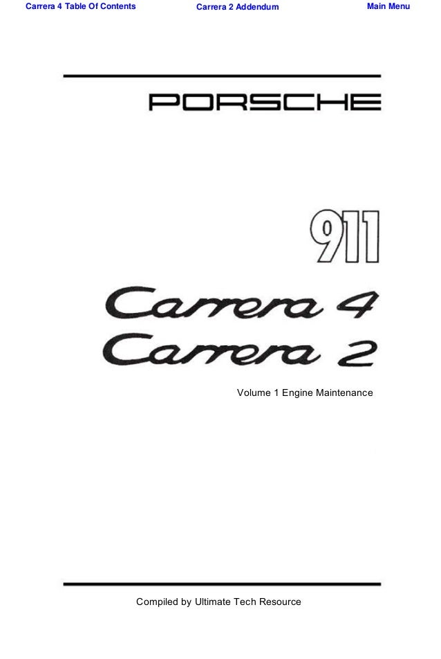 1992 Porsche 911-964 Service Repair Manual