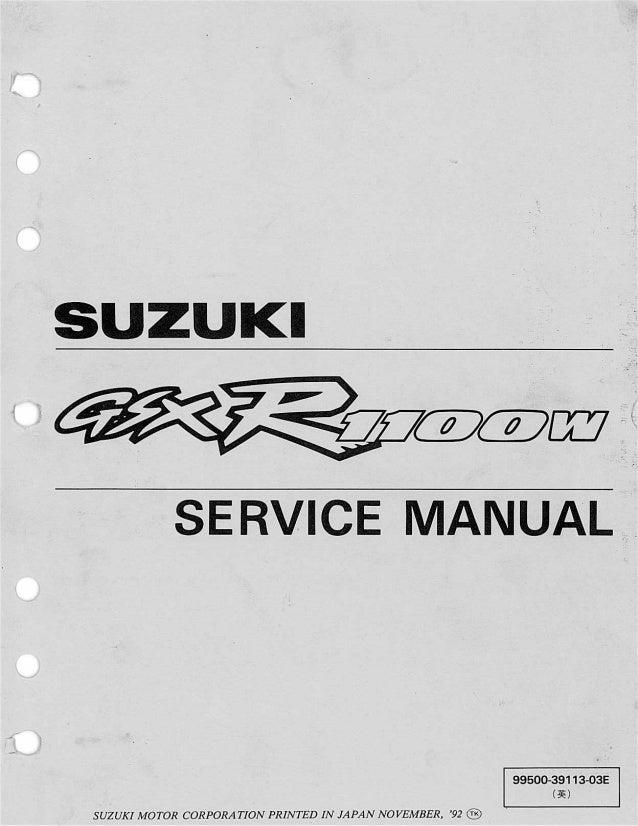 1993 Suzuki GSX-R1100WP Motorcycle Service Repair Manual