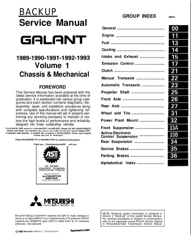 [GJFJ_338]  1990 Mitsubishi Galant Service Repair Manual   1992 Mitsubishi Galant Fuse Diagram      SlideShare