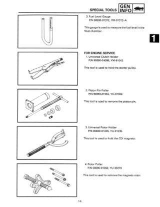 1993 Yamaha EX570T Snowmobile Service Repair Manual