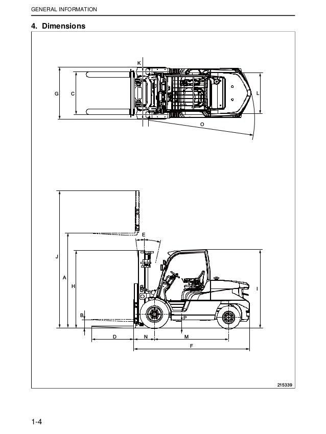 Mitsubishi FD50CN Forklift Trucks Service Repair Manual SN