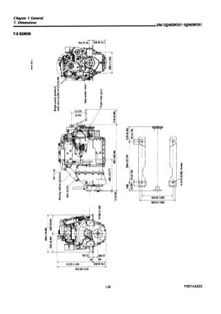 Yanmar 2QM20H Marine Diesel Engine Service Repair Manual