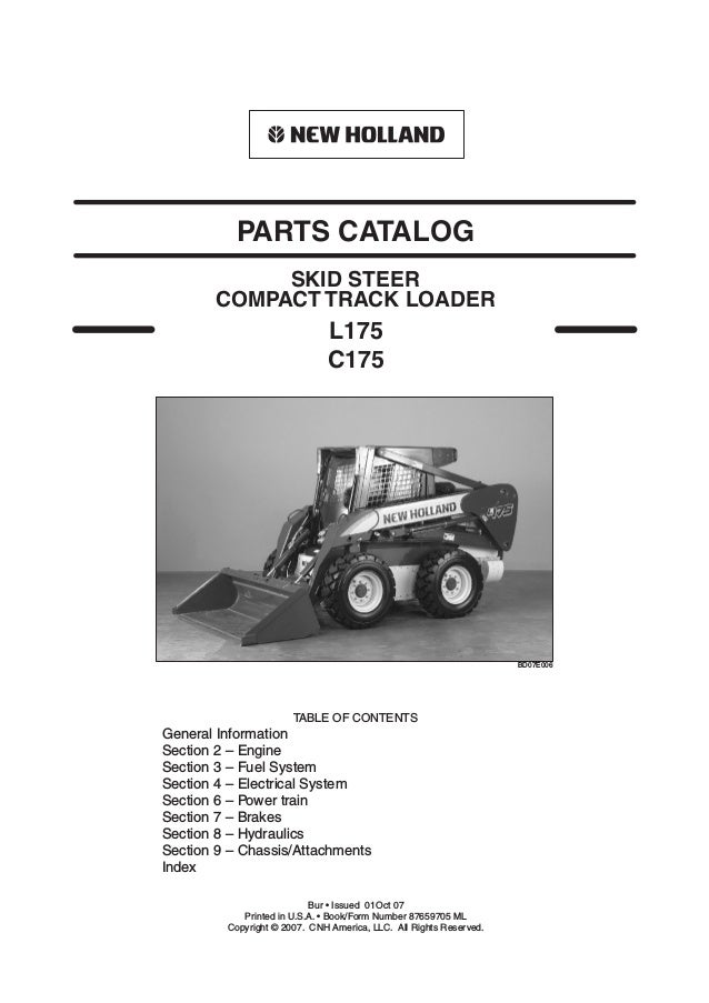 New Holland C175 Skid Steer (Compact Track Loader) Parts