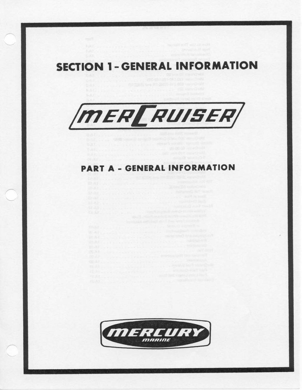 MERCURY MERCRUISER MCM250 (327CID) STERN DRIVE UNITS AND