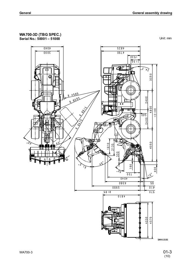 Komatsu WA700-3 Wheel Loader Service Repair Manual SN
