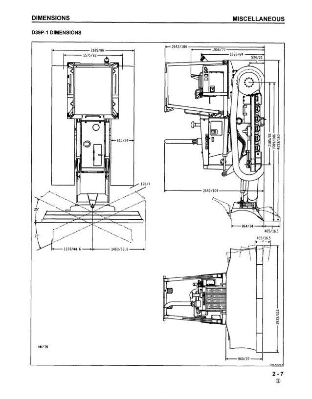 Komatsu D39E-1 Dozer Bulldozer Service Repair Manual S/N