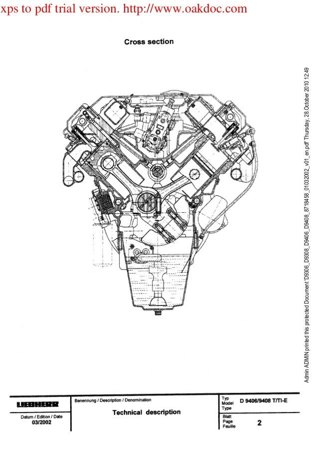 Liebherr D9308 Diesel Engine Service Repair Manual