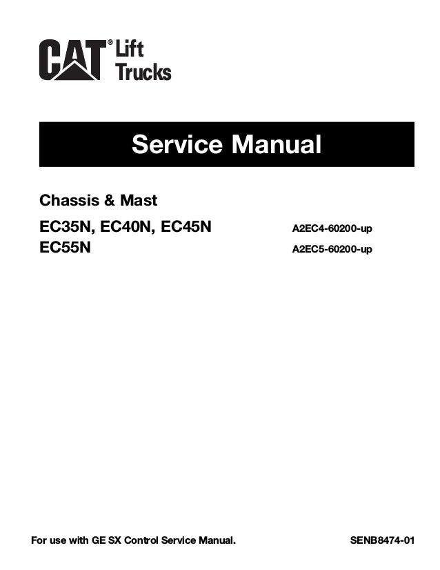 Caterpillar Cat EC55N Forklift Lift Trucks Service Repair