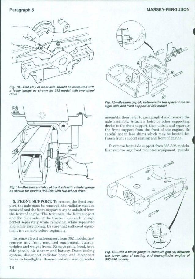 MASSEY FERGUSON MF365 TRACTOR Service Repair Manual