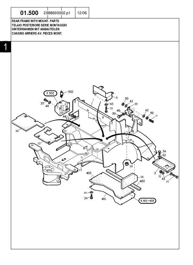 New Holland W80 Compact Wheel Loader Parts Catalogue Manual