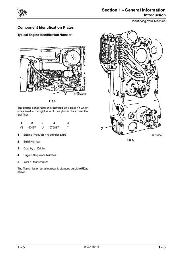 JCB 426 WHEELED LOADER Service Repair Manual SN:531001