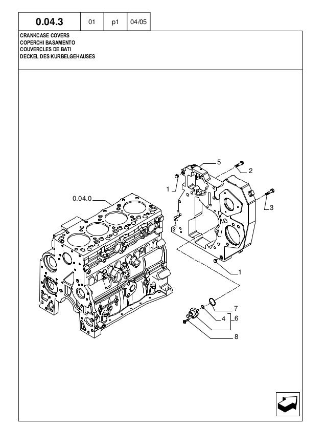 New Holland Lm1345 Turbo Telescopic Handler Parts Catalogue Manual