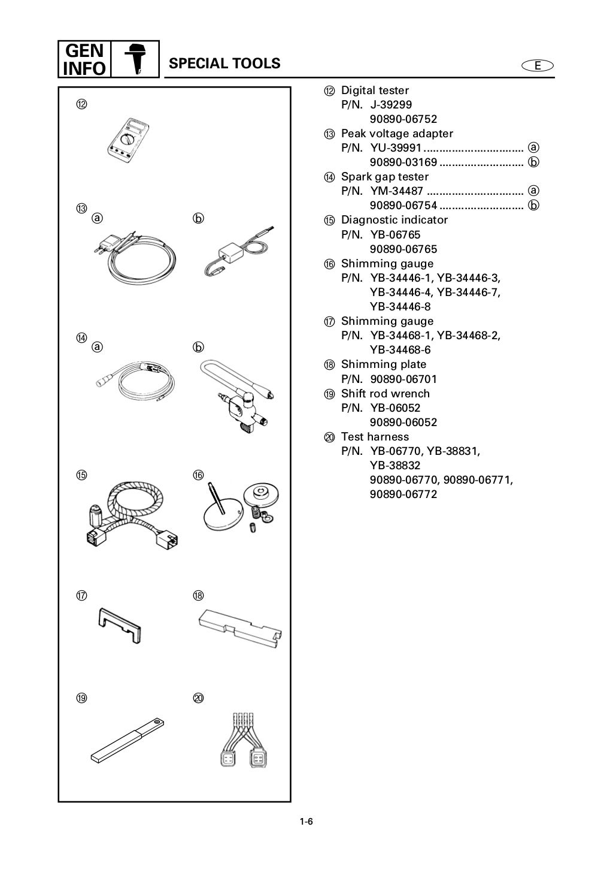 YAMAHA 175DETO OUTBOARD Service Repair Manual L: 350273