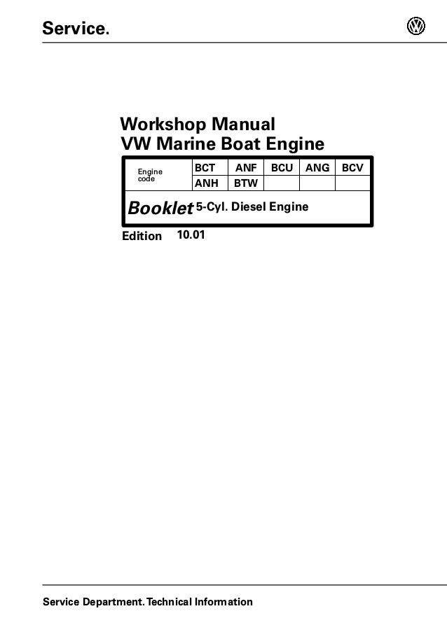 volkswagen sdi 2 5l 75 5 diesel marine engine service repair manual rh slideshare net marine power engine parts manual yanmar marine engine parts manual