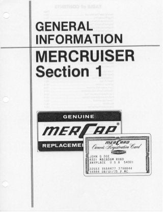 MERCURY MERCRUISER MCM 280 STERN DRIVE UNITS AND MARINE