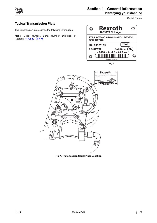 JCB 406 WHEELED LOADER Service Repair Manual SN:01163001