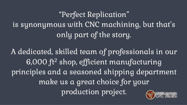 Custom Manufacturing & Mass Production Slide 2