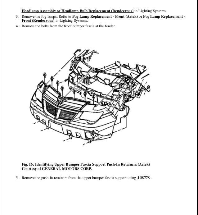 Pontiac Aztek Owners Manual PDF