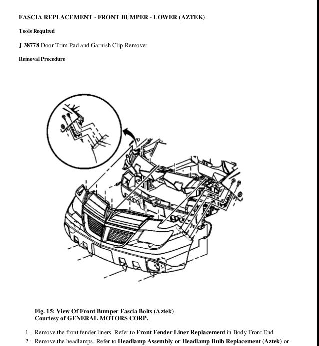 2002 PONTIAC AZTEK Service Repair Manual
