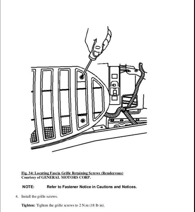 2002 PONTIAC AZTEK Service Repair Manual