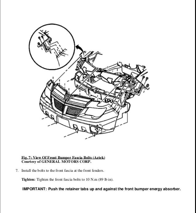 Pontiac Aztek Repair Manual 2002 Downloadable Service