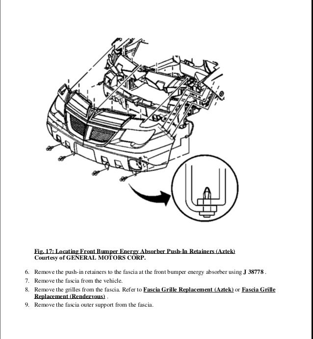 2001 PONTIAC AZTEK Service Repair Manual