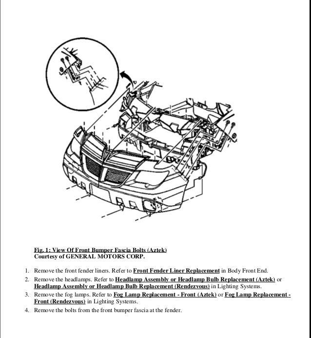 2001 pontiac aztek service repair manual rh slideshare net 2001 Aztec 2001 Aztek Recalls