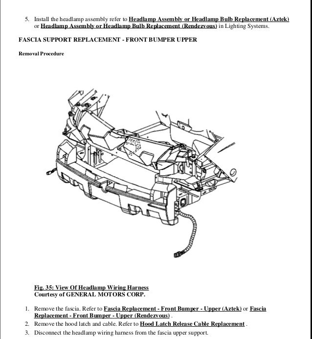 Pontiac Aztek Wiring Harnes