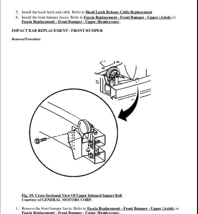 2001 pontiac aztek repair manual
