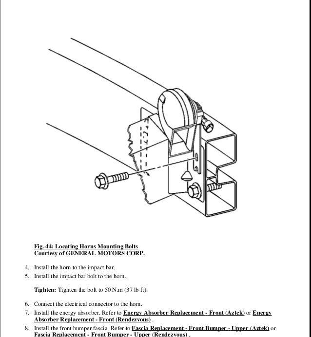 2001 pontiac aztek service repair manual rh slideshare net 2001 Green Pontiac 2001 Pontiac Aztek Problems