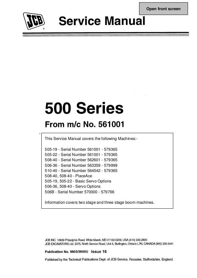 jcb operator manual 505 22 open source user manual u2022 rh dramatic varieties com Mazda CX-5 2010 Mazda 6 Intake Manifold