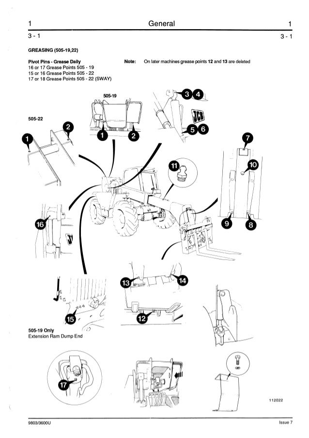 JCB 506B TELESCOPIC HANDLER Service Repair Manual ALL