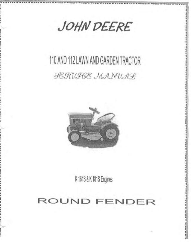 john deere 112 lawn and garden tractor service repair manual rh slideshare net