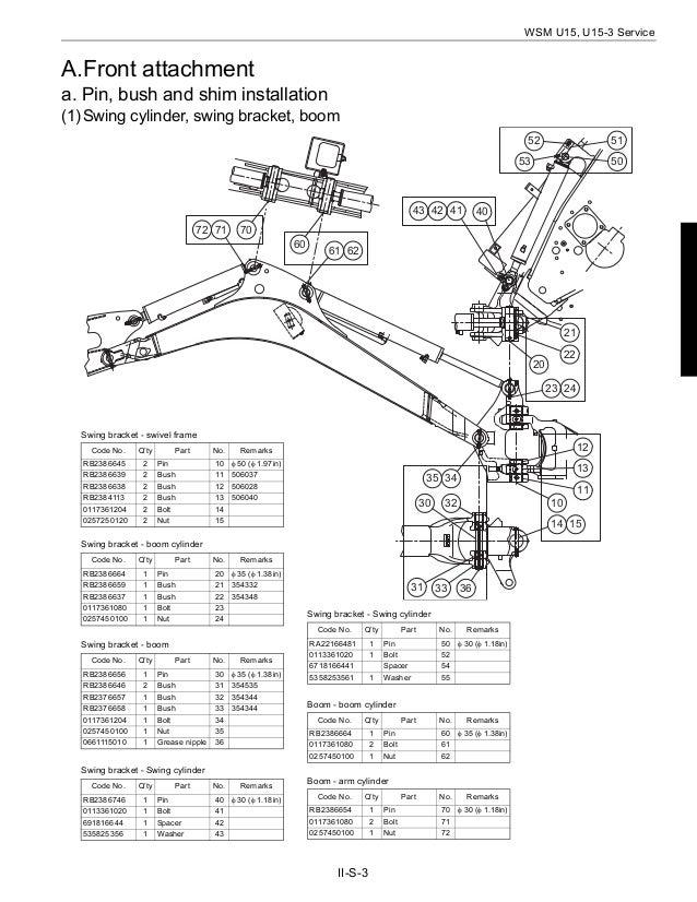 KUBOTA U15-3 MICRO EXCAVATOR Service Repair Manual